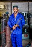 Factory welder stock image