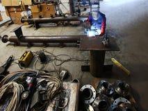 Factory welder Royalty Free Stock Photo