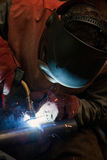 Factory welder at work Stock Photo