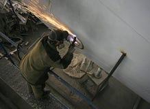 Factory welders Stock Images