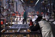 factory welding Στοκ Φωτογραφία