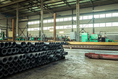 The factory where produced the drill pipe Royalty Free Stock Photos
