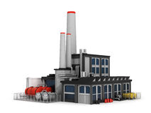 Factory  on white background. Stock Images