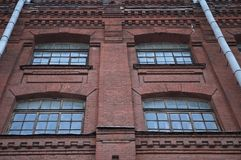 Factory windows. Old factory windows Royalty Free Stock Photography