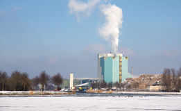 Factory in the winter Stock Image