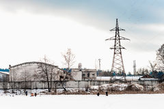 Factory in winter Stock Image