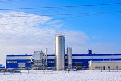 Factory winter snow Royalty Free Stock Images