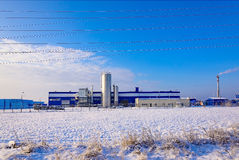 Factory winter snow Royalty Free Stock Photography