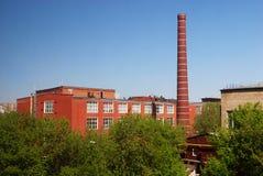 Free Factory With Brick Smokestack Stock Image - 6267891