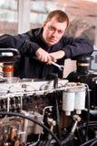 Factory worker. Men. Machine. Technology Stock Image
