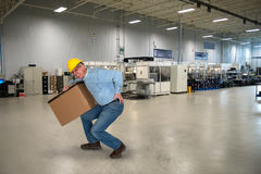 Free Factory Worker, Back Injury, Safety Stock Images - 84194024