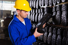 Factory worker gumboots Stock Photography