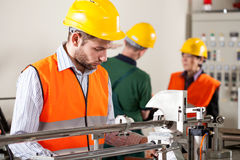 Factory worker during job Royalty Free Stock Photos