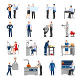Factory Workers People Icons Set Royalty Free Stock Photo