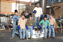 Factory Workers and Supervisor Royalty Free Stock Photo