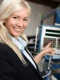 Factory working operating machine Stock Image