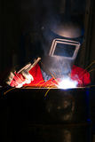 Factory working welder Royalty Free Stock Photo