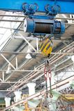 Factory workshop overhead crane Royalty Free Stock Images