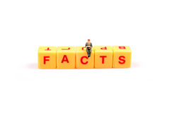 Facts. A man discovering the facts of life Royalty Free Stock Images
