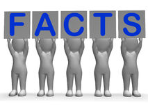 Facts Banners Means Truth Information And Royalty Free Stock Images