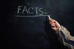 Facts on the blackboard stock photos
