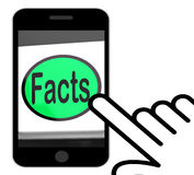 Facts Button Displays True Information And Data Royalty Free Stock Photos