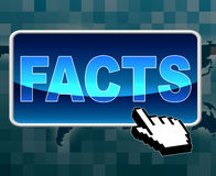 Facts Button Represents World Wide Web And Answers Stock Image