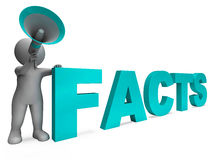Facts Character Shows Details Information And Knowledge Stock Image
