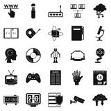 Facts icons set, simple style. Facts icons set. Simple set of 25 facts vector icons for web  on white background Royalty Free Stock Photography