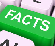 Facts Key Shows True Information And Data Royalty Free Stock Image