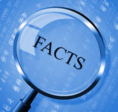 Facts Magnifier Means Details Intelligence And True Royalty Free Stock Images