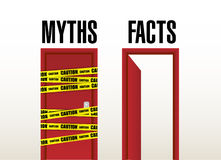 Facts open door concept illustration Stock Image