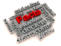Facts over misleading illusions Royalty Free Stock Image