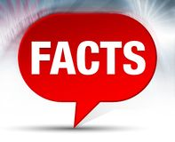 Facts Red Bubble Background stock illustration