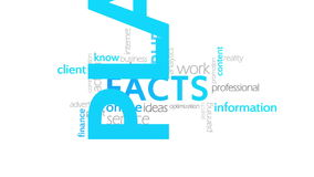 Facts, typography animation. Facts, Infograph,4k  high quality stock video footage