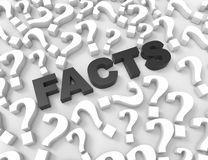 FACTS word with question marks Royalty Free Stock Photography