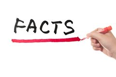 Facts word Stock Photography