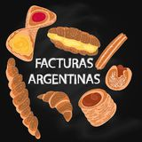 Facturas Argentinas 皇族释放例证