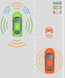 Facturation sans fil des véhicules électriques Photo stock