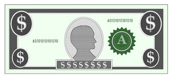 Facture d'argent du dollar Photographie stock libre de droits