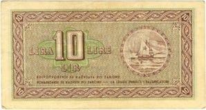 facture de 10 Lires Images stock