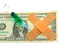 Facture de dollar US Avec des bandaids Images libres de droits