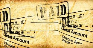 Facture financière illustration libre de droits