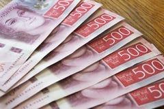 Factures d'argent suédoises Images libres de droits