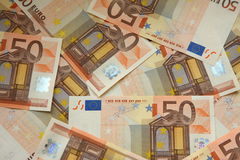 50 factures d'euro Photo libre de droits