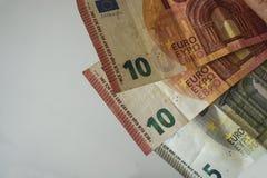 Factures d'euro d'argent Image stock