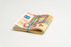 50 factures d'euros Photos stock