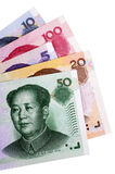 Factures de devise chinoises de yuans Images libres de droits