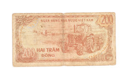 200 factures de Dong du Vietnam Photographie stock libre de droits