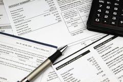 Factures de paiement Image libre de droits